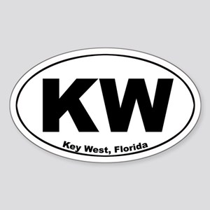 KW (Key West) Oval Sticker