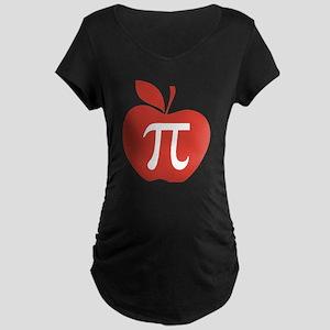 Red Apple Pi Math Humor Maternity Dark T-Shirt