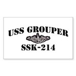USS GROUPER Sticker (Rectangle 10 pk)