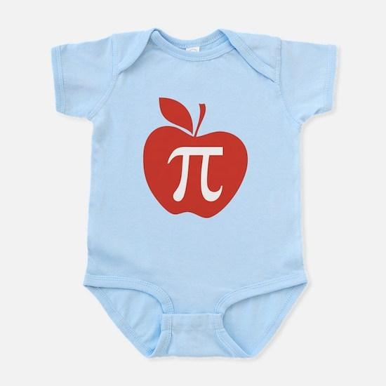 Red Apple Pi Math Humor Infant Bodysuit