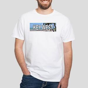 KW (Key West) White T-Shirt