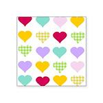 Rainbow Hearts Square Sticker 3