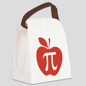 Red Apple Pi Math Humor Canvas Lunch Bag