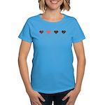 Red and Black Hearts Women's Dark T-Shirt