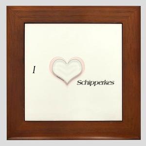 I heart Schipperkes Framed Tile