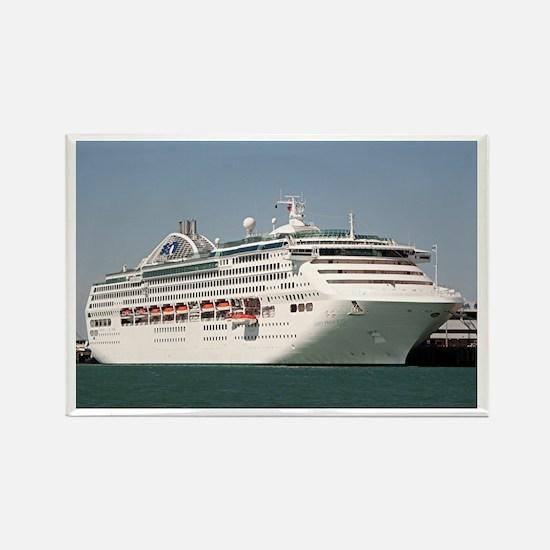 Dawn Princess Cruise Ship Rectangle Magnet
