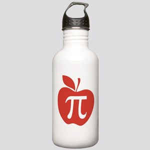 Red Apple Pi Math Humor Stainless Water Bottle 1.0