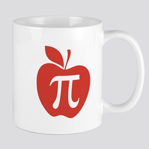 Red Apple Pi Math Humor Mug