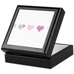 Pink Hearts Keepsake Box
