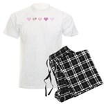 Pink Hearts Men's Light Pajamas
