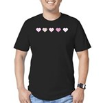 Pink Hearts Men's Fitted T-Shirt (dark)