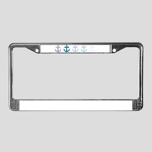Blue anchors License Plate Frame