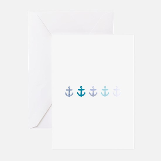 Blue anchors Greeting Cards (Pk of 20)