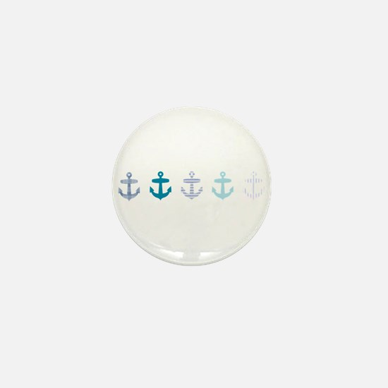 Blue anchors Mini Button
