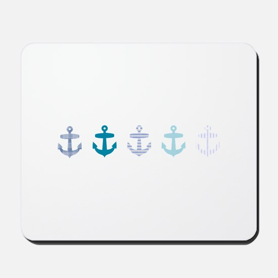 Blue anchors Mousepad