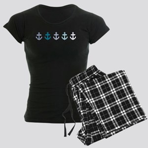 Blue anchors Women's Dark Pajamas