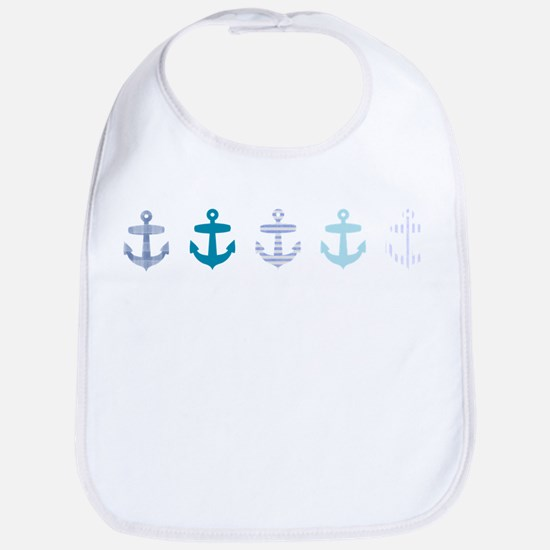 Blue anchors Bib