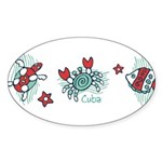 Blue Lagoon Oval Sticker