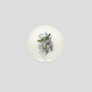 Gold Crest Bird Mini Button