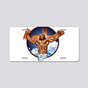 Strong Jesus Aluminum License Plate