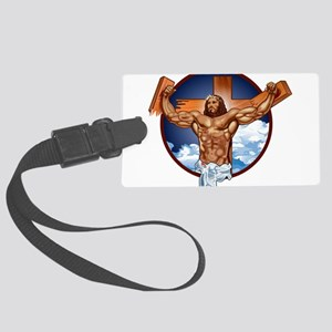 Strong Jesus Large Luggage Tag