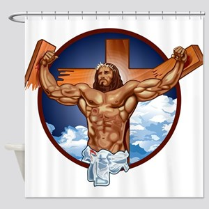 Strong Jesus Shower Curtain