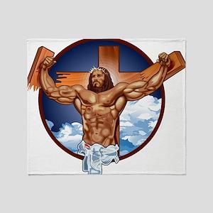 Strong Jesus Throw Blanket