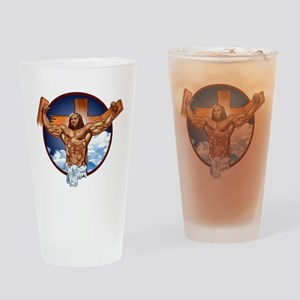 Strong Jesus Drinking Glass