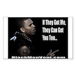 Chris Brown Sticker (Rectangle 50 pk)
