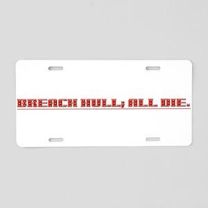 Breach Hull; All Die Aluminum License Plate