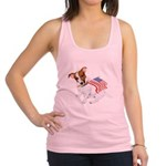 Jack Russell With USA Flag Racerback Tank Top