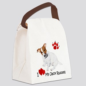 Love My Jack Russell Terrier Canvas Lunch Bag