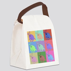 Warhol Style Jack Russell Design on Canvas Lunch B