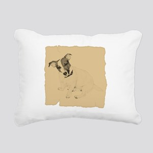 Jack Russell Vintage Style Rectangular Canvas Pill