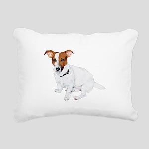 JRT FLip Paw Prints Rectangular Canvas Pillow