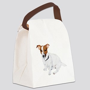 JRT FLip Paw Prints Canvas Lunch Bag