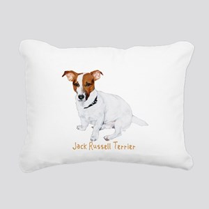 Jack Russell Terrier Rectangular Canvas Pillow