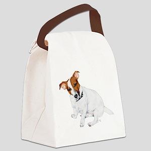 2-BULLET Head Tilted Canvas Lunch Bag