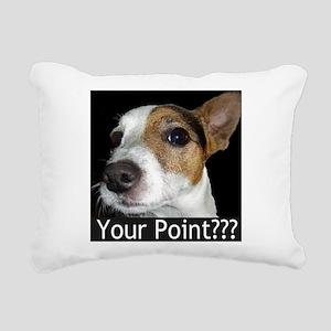 JRT Your Point? Rectangular Canvas Pillow