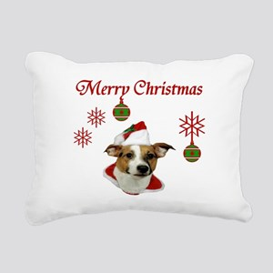 Jack Russell Christmas Greetings Rectangular Canva