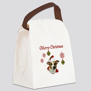 Jack Russell Christmas Greetings Canvas Lunch Bag