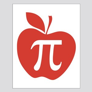 Red Apple Pi Math Humor Small Poster