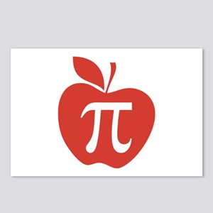 Red Apple Pi Math Humor Postcards (Package of 8)