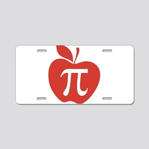 Red Apple Pi Math Humor Aluminum License Plate