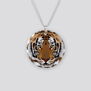 Tiger Necklace Circle Charm