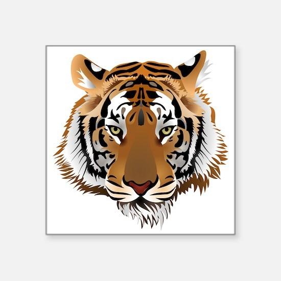 """Tiger Square Sticker 3"""" x 3"""""""