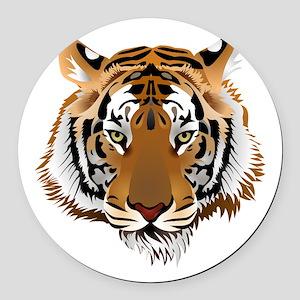 Tiger Round Car Magnet
