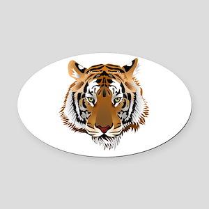 Tiger Oval Car Magnet
