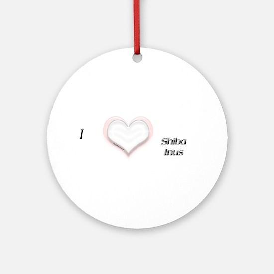 I heart Shiba Inus Ornament (Round)