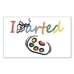 I Arted Sticker (Rectangle 50 pk)